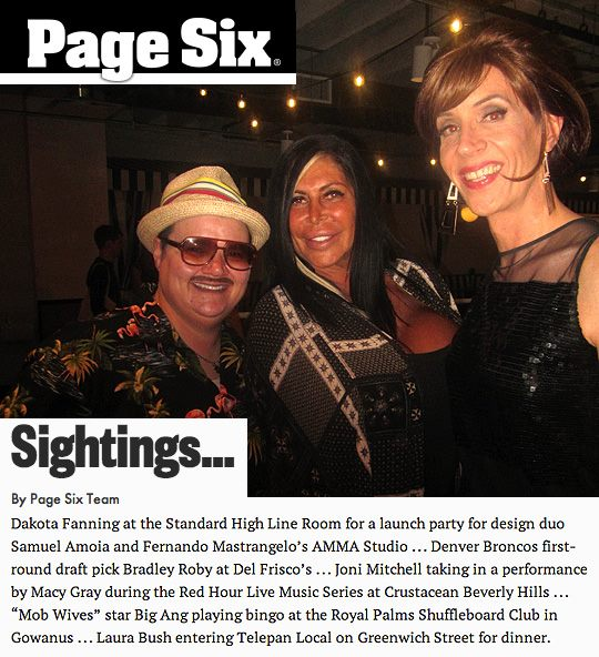 My Bingo co-host Murray Hill alerted Page Six, and they included her visit!