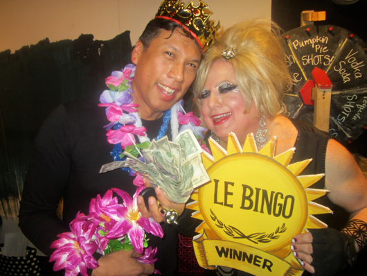 Sultana with a recent ecstatic big winner!